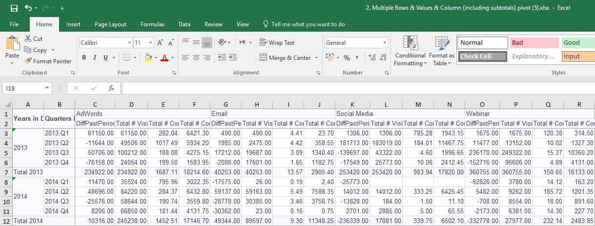 exporting pivot tables to excel sisense documentation